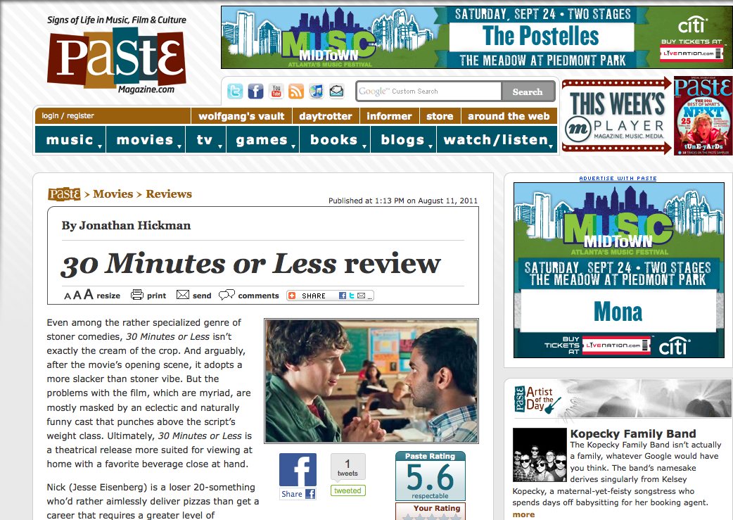Review: 30 Minutes or Less