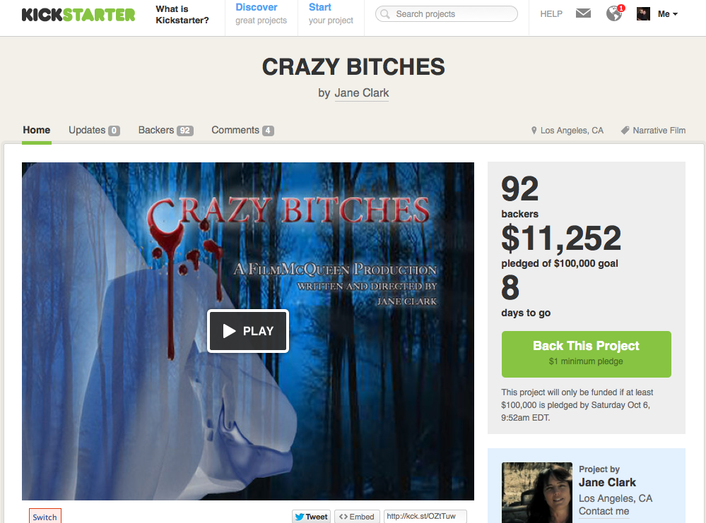 Kickstarter Alert: CRAZY BITCHES Unite!
